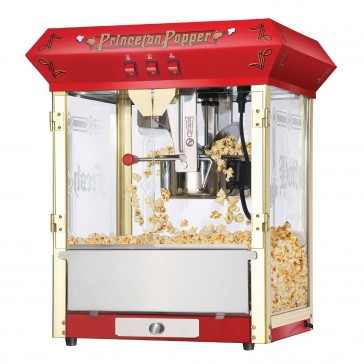 Red Princeton 8 Ounce Bar Style Antique Popcorn Machine