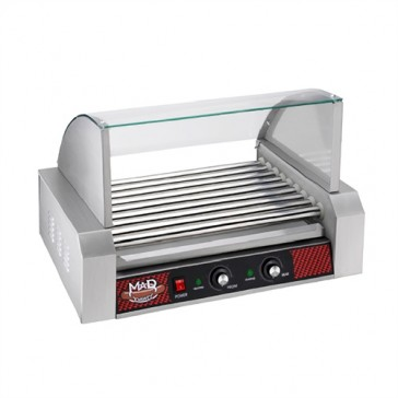 9 Roller Commercial Hot Dog Machine with Cover