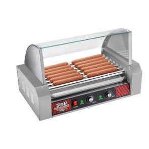 7 Roller Commercial Hot Dog Machine with Cover