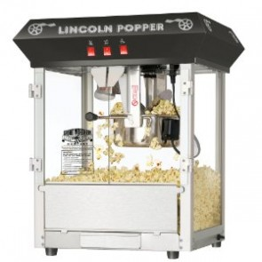 "Black Bar Style ""Lincoln"" 8 Ounce Antique Popcorn Machine (Bar Style)"