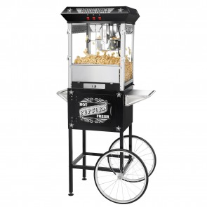 Black Paducah 8 Ounce Antique Popcorn Machine and Cart
