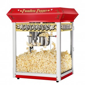 Red Pasadena 8 Ounce Bar Style Antique Popcorn Machine