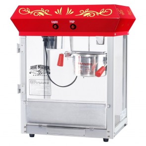 Great Northern 6131 Popcorn All Star Countertop 4 oz Red Popcorn Machine