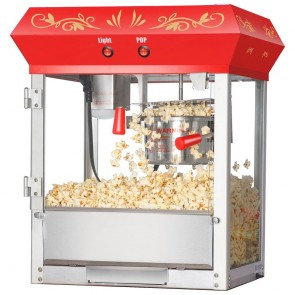 Red All Star 4 oz Countertop Popcorn Machine 6131
