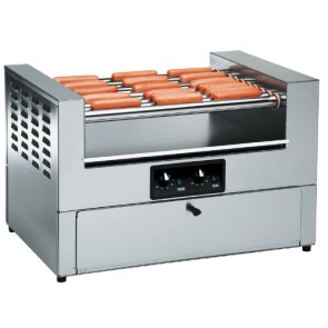 Gold Medal Hot Dog Grill w/ Bun Cabinet