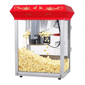 Red All Star 8 Ounce Popcorn Machine & Cart 6128