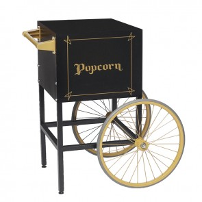 Gold Medal 8 oz. Fun Pop Cart, Black and Gold