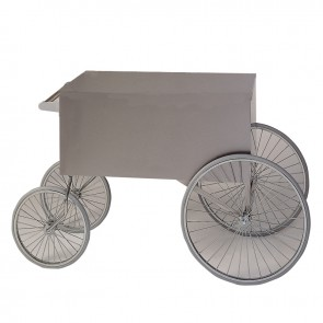 "Gold Medal 36""x20"" Wagon, Stainless Steel"