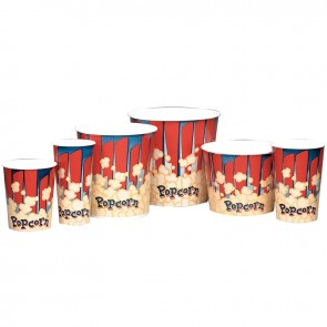 Gold Medal 170 oz. Red and Blue Popcorn Tub, 150/cs
