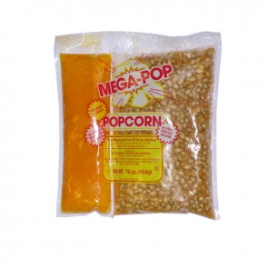 Gold Medal MegaPop® Corn/Oil Salt Kits for 12-14oz Kettles, 24 per case