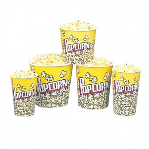 "Gold Medal 170 oz. Large Popcorn Butter Tubs ""Popcorn Design,"" 150/cs."