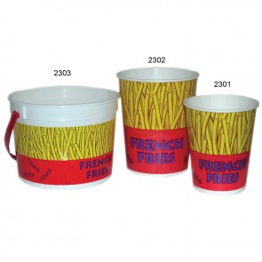 Gold Medal 32oz. Printed French Fry Cup