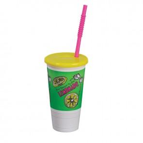 Gold Medal Tapered Plastic 32oz Lemonade Cup