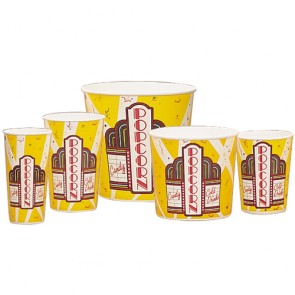 "Gold Medal 170 oz. Large Popcorn Butter Tubs ""Premier Design,"" 100/cs"