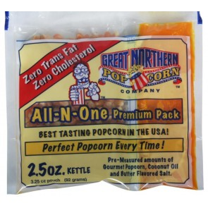 Case (24) of 2.5 Ounce GNP 2 1/2 Popcorn Portion Packs