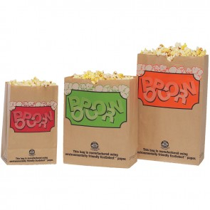 Gold Medal 85oz. EcoSelect Laminated Popcorn Bags, 500/cs