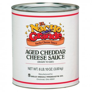 Gold Medal Aged Cheddar Cheese, 6-10lb. Cans/cs